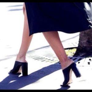 Zara high heel black mules